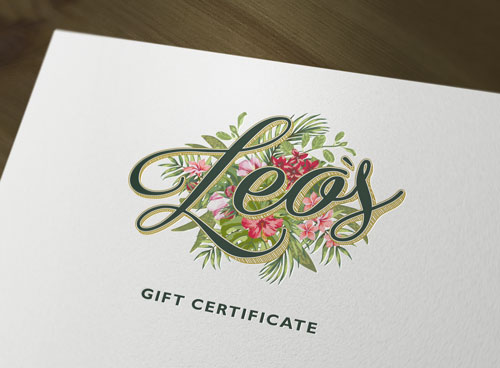 Leo's Oyster Bar Gift Certificate